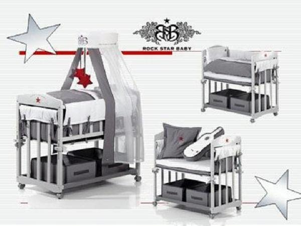 pin roba 4 in 1 rock star baby bett wiege stubenwagen incl w sche on pinterest. Black Bedroom Furniture Sets. Home Design Ideas